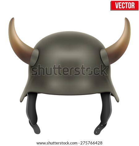 german army helmet with horns