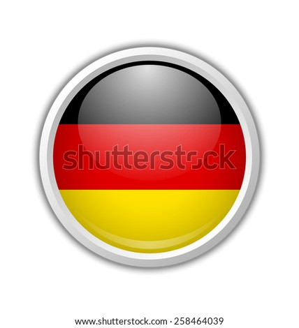 german circular shaped badge or