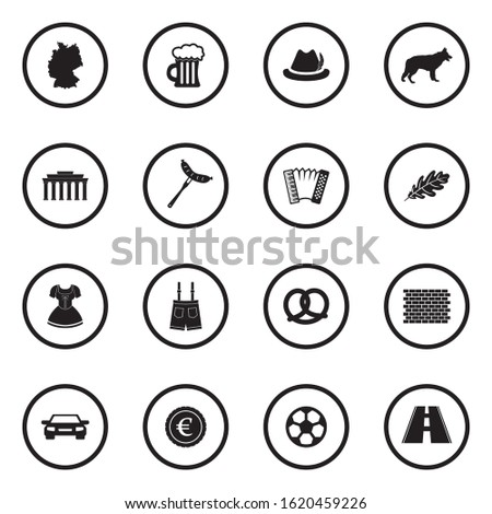 german culture icons black