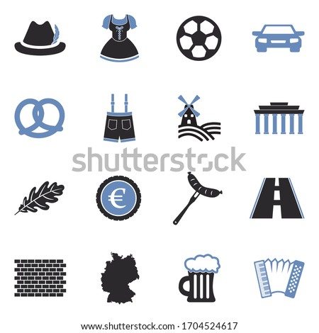 german culture icons two tone