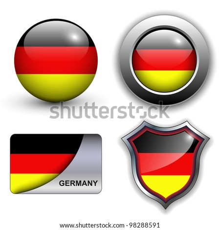 German flag icons theme. - stock vector