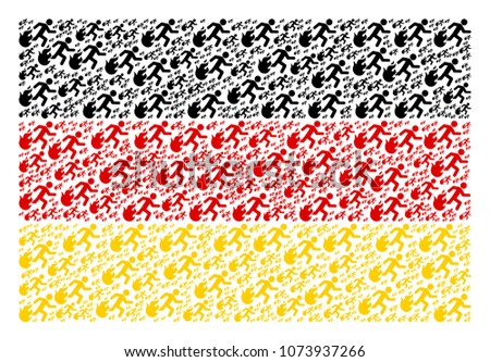 german flag pattern made of