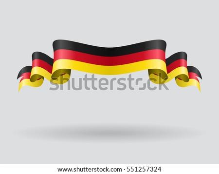 german flag wavy abstract
