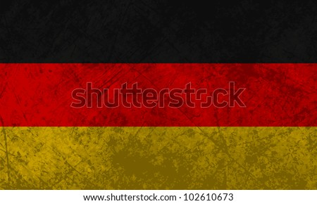 German flag with a grunge texture effect.