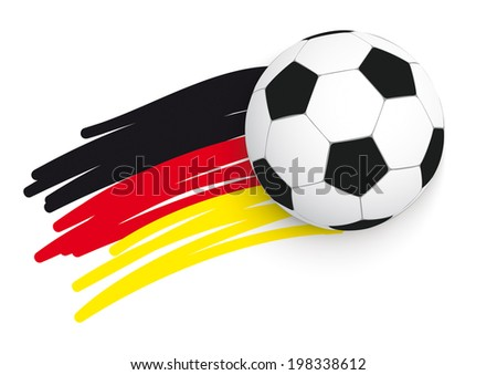 german flag with football on