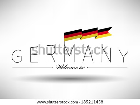 german flag with typography