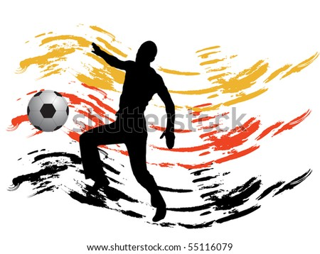 german football - vector - stock vector