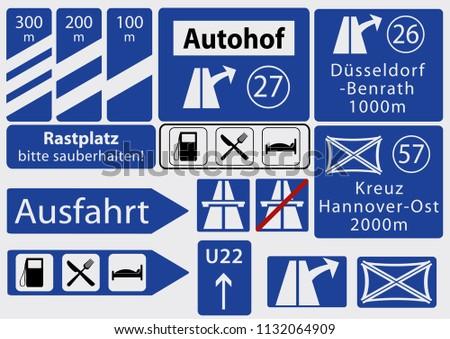 german freeway signs