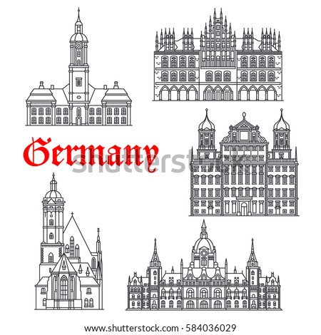 german historic buildings and