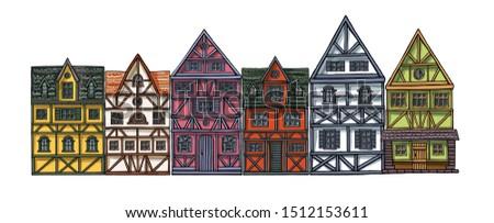 german houses cartoon