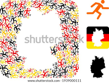 german map subtraction collage