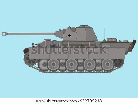 german medium tank panther of
