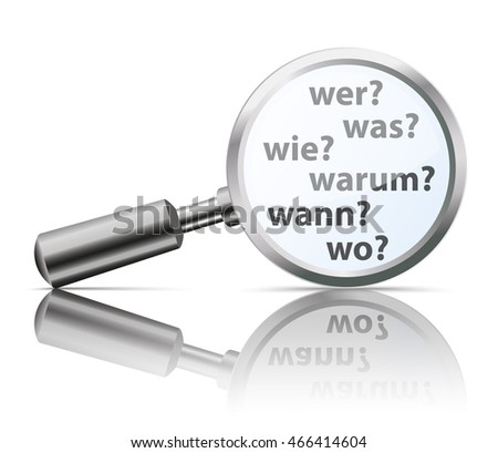 german questions wer  wie  was