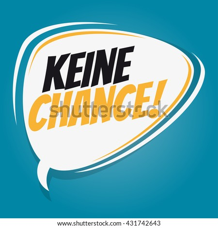 german retro speech bubble that