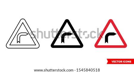 german road sign dangerous