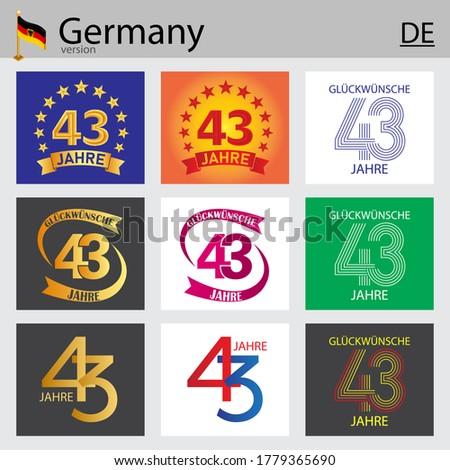 german set of number forty