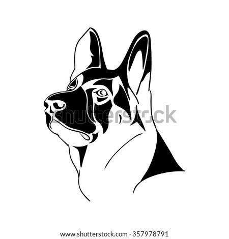 german shepherd dog   black and