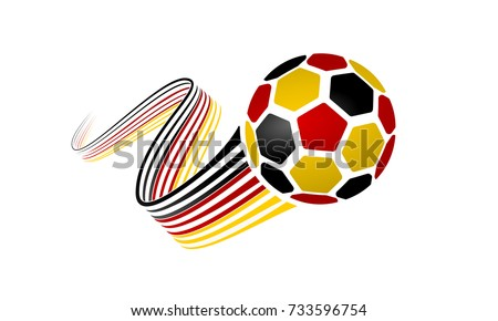 german soccer ball isolated on