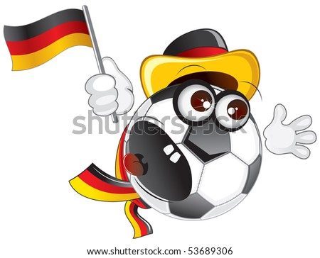 german soccer fan shouting