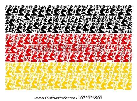 german state flag concept made