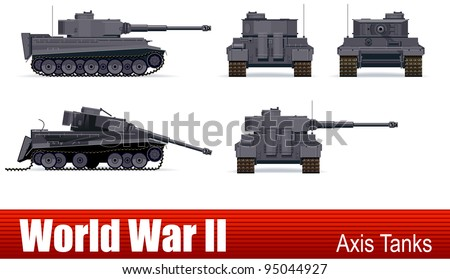 german tank  in vector ww2