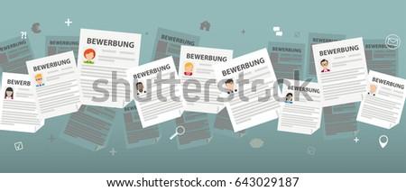 German text Bewerbung, translate Application. Eps 10 vector file. Stockfoto ©