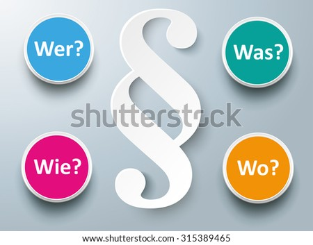 german text wer wie was wo
