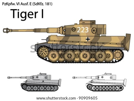 german tiger i tank from the
