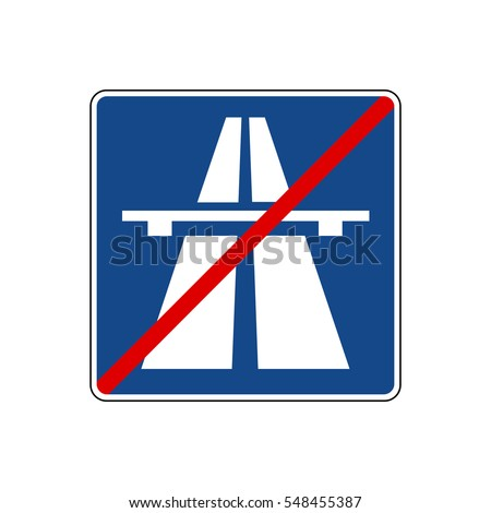german traffic sign end of