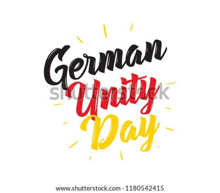 German Unity day - Tag der Deutschen Einheit. October 3rd. Typography vector design.
