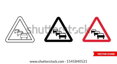 german warning sign  traffic
