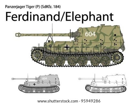 german ww2 ferdinand elephant