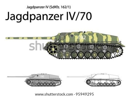 german ww2 jagdpanzer iv with