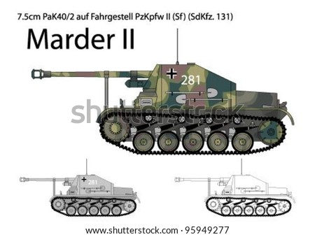german ww2 marder ii tank