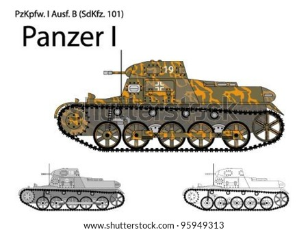 german ww2 panzer i b light tank