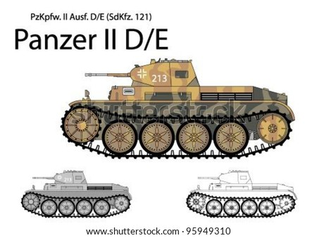 german ww2 panzer ii d e light