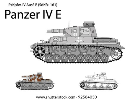 german ww2 panzer iv e with