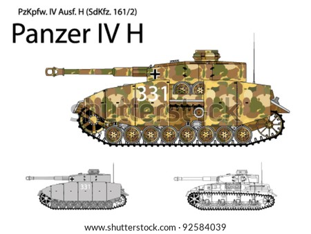 german ww2 panzer iv h with