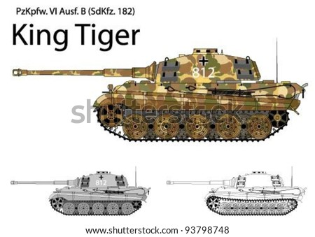 german ww2 tiger b  king tiger