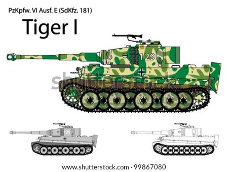 german ww2 tiger tank with