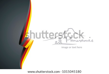 germany abstract flag brochure