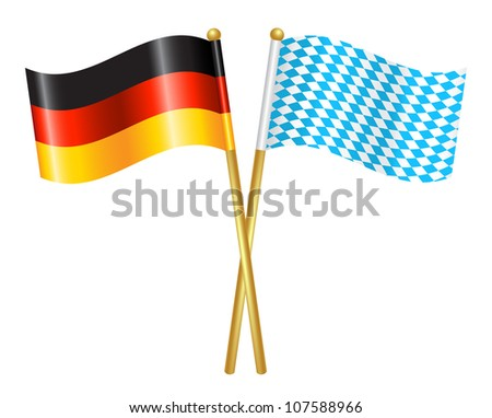 germany and bavaria flags icon