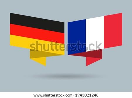 Germany and France flags. French and German national symbols. Vector illustration. Foto stock ©