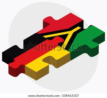 germany and vanuatu flags in