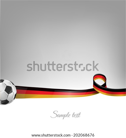 germany background with soccer