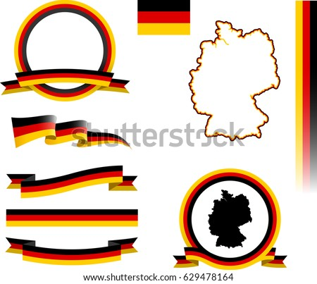 Germany Banner Set Vector Graphic Ribbons Flags And Banners Of