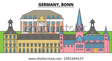 germany  bonn city skyline