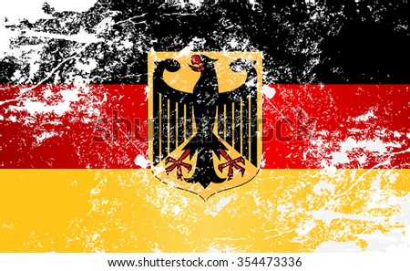 germany coat of arms grunge