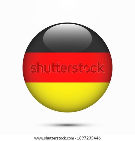 Germany flag circle shape button vector illustration Foto d'archivio ©