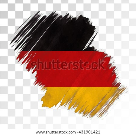 germany flag grunge stain
